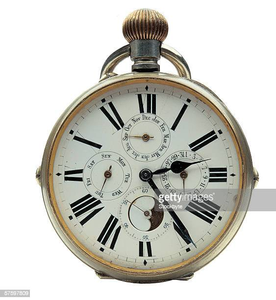 close-up of a pocket watch