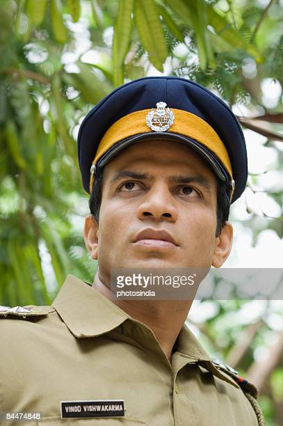 Close-up of a policeman