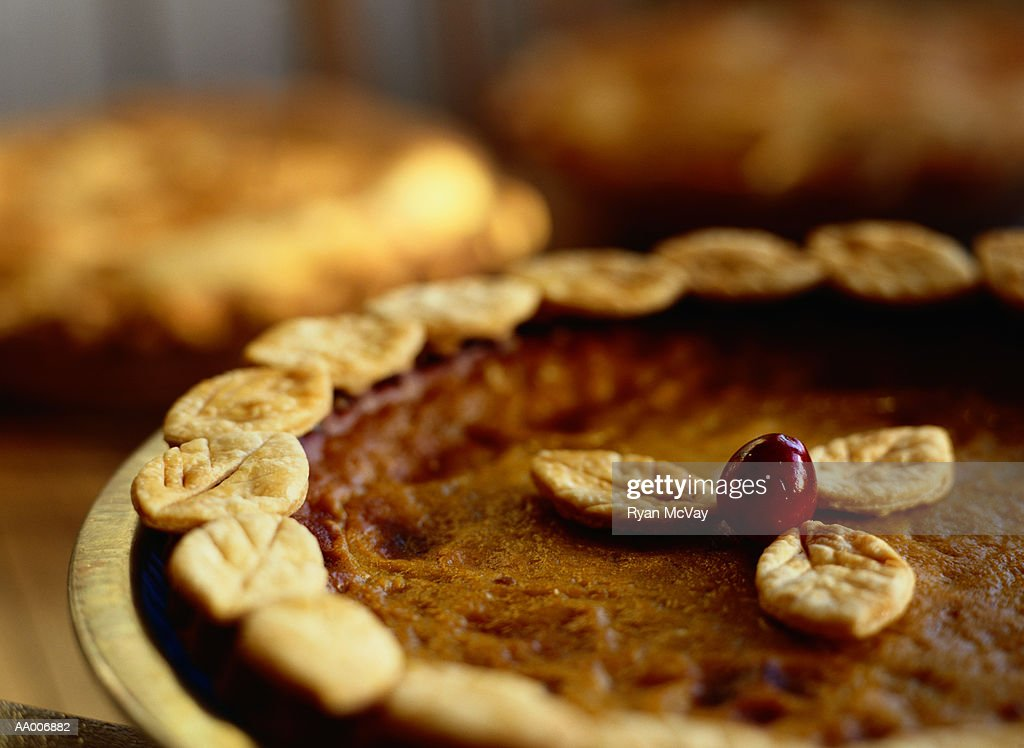 Close-up of a Pumpkin Pie