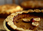 Close-up of a Pumpkin Pie
