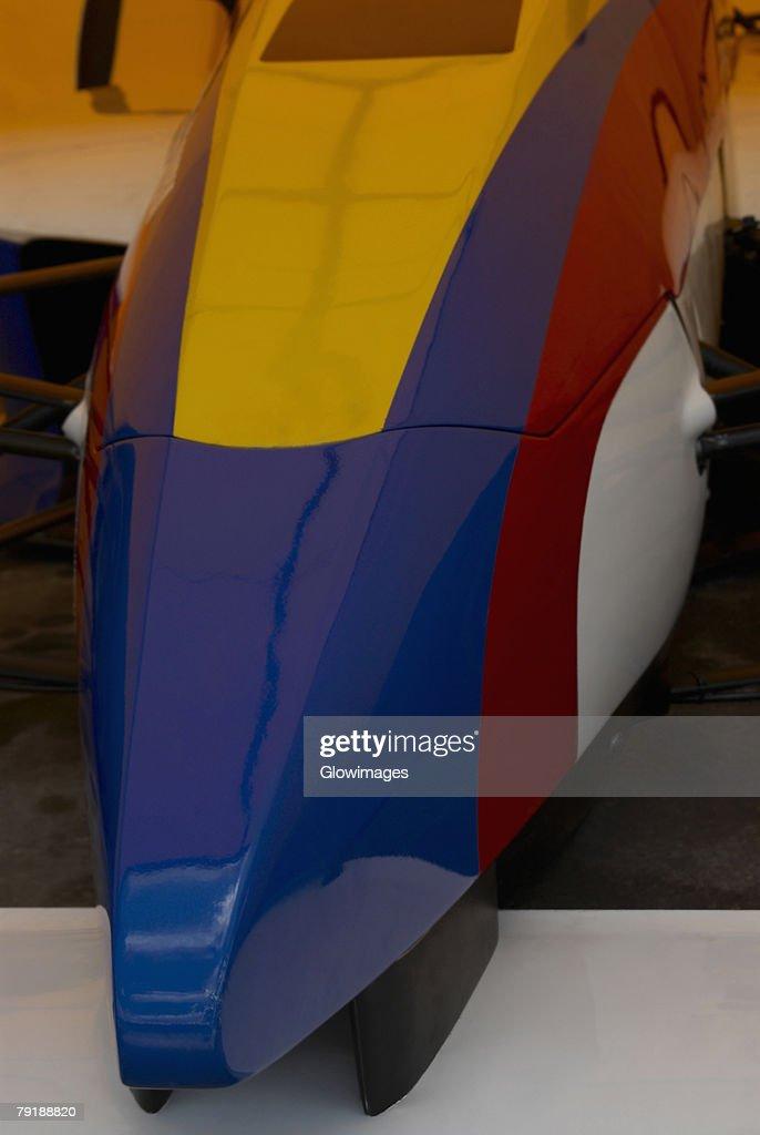 Close-up of a racecar : Foto de stock
