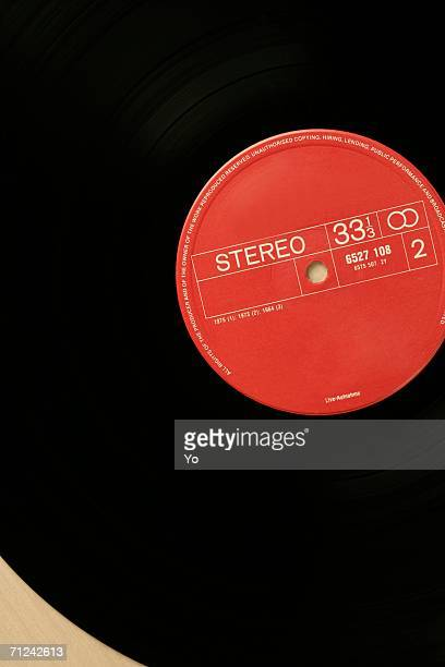 Close-up of a record