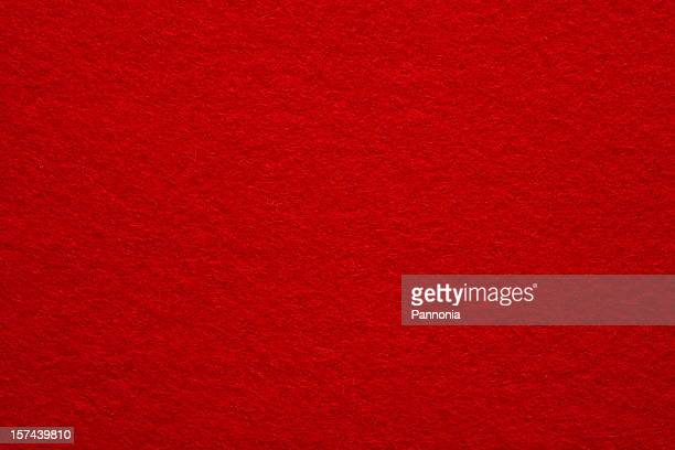 A close-up of a red felt background
