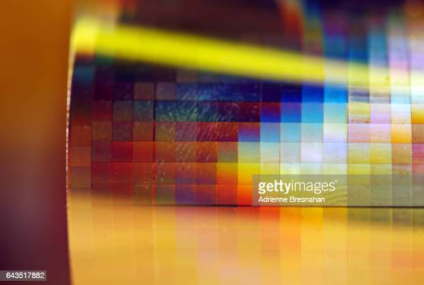 Close-Up of a Roll of Holographic Paper