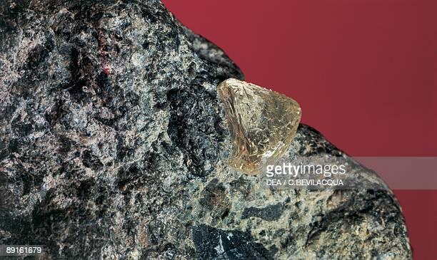 Closeup of a rough diamond
