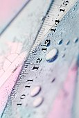 Close-up of a ruler in water