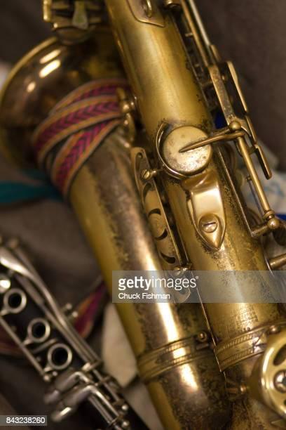 Closeup of a saxophone November 24 2013