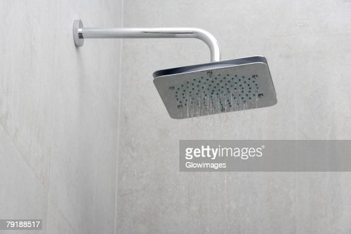 Close-up of a shower in the bathroom : Stock Photo