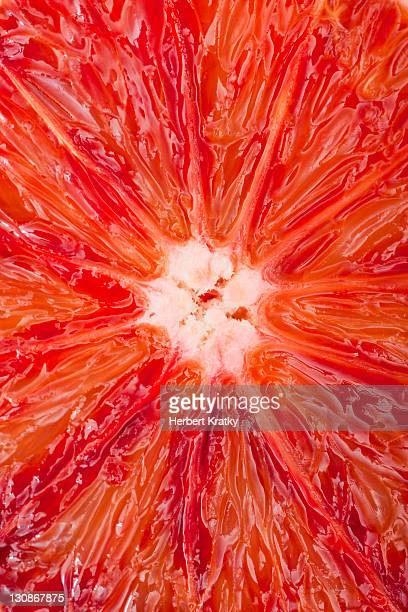 Close-up of a sliced blood orange