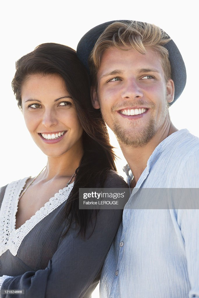 Close-up of a smiling couple : Stock Photo