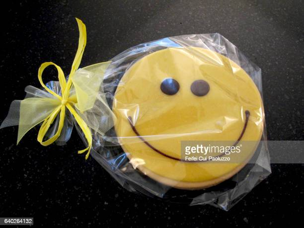 Close-up of a Smiling face cake