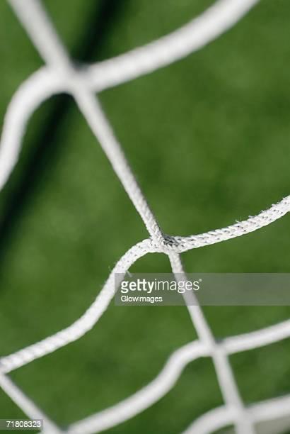 Close-up of a soccer net