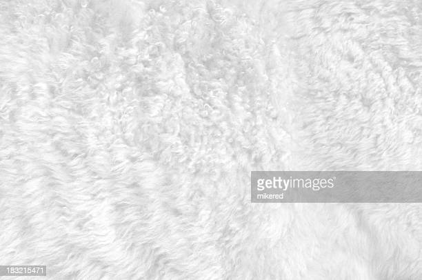 Close-up of a soft white furry blanket