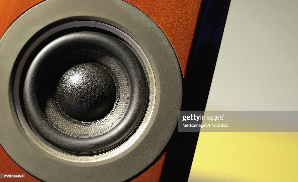 Close-up of a speaker : Photo