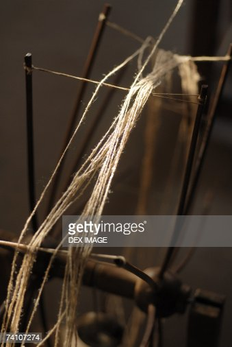 Close-up of a spinning wheel