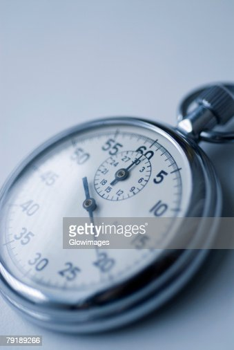 Close-up of a stopwatch : Foto de stock