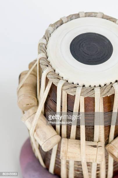 Close-up of a tabla