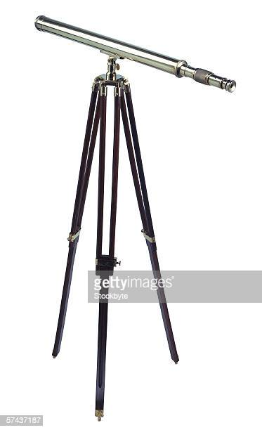 close-up of a telescope on a tripod