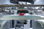Three dimensional automated printing machine working