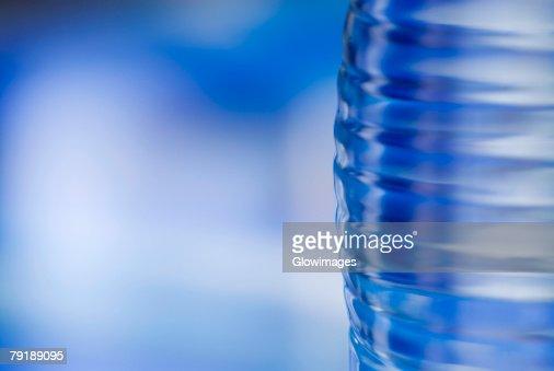 Close-up of a water bottle : Foto de stock
