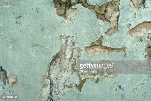 Close-up of a weathered wall : Foto de stock