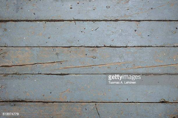 Closeup of a weathered wooden floor or wall board