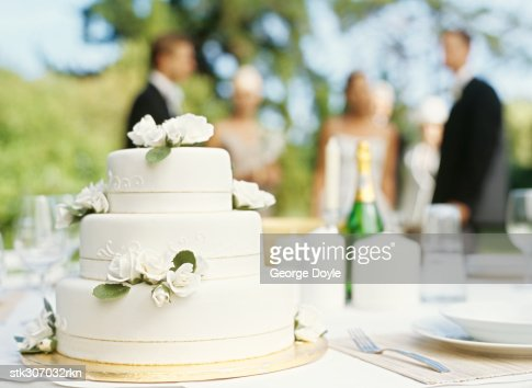 close-up of a wedding cake : Stock Photo