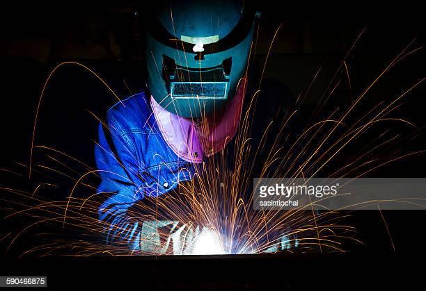 Close-up of a welder