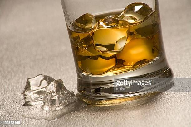 Close-up of a whiskey glass
