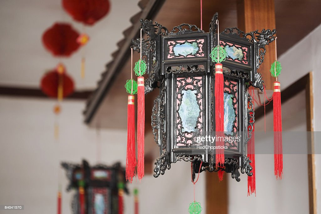 Close-up of a wind chime, HohHot, Inner Mongolia, China