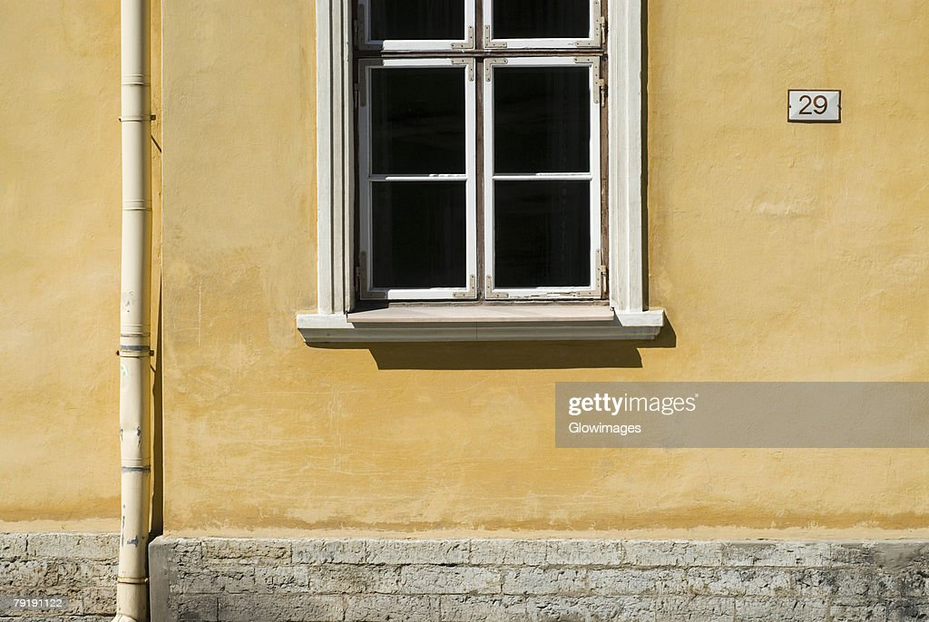 Close-up of a window on a wall : Stock Photo