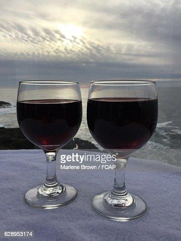 Close-up of a wineglass