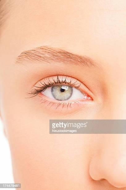 クローズアップの女性の目