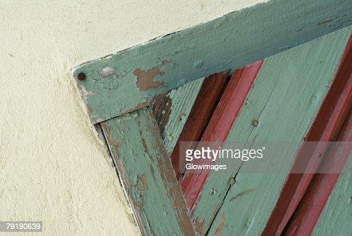Close-up of a wooden door : Foto de stock