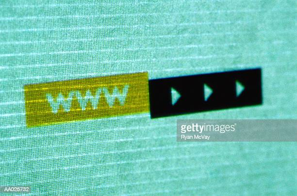 Close-Up of a World Wide Web Computer Icon