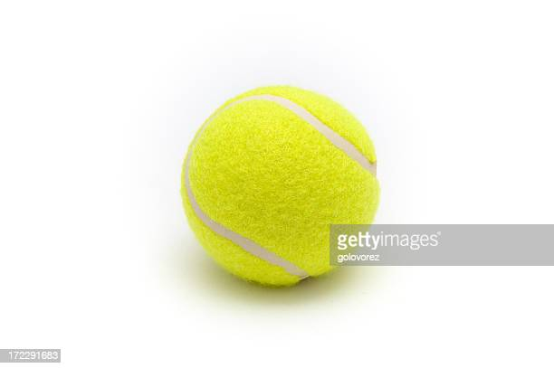 Close-up of a yellow tennis ball