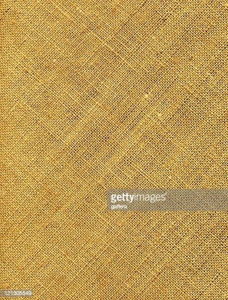 Closeup of a yellowish old burlap