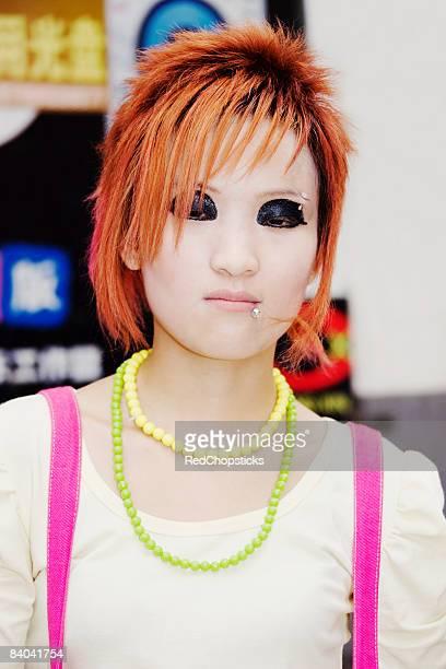 Close-up of a young woman, Zhengzhou, Henan Province, China