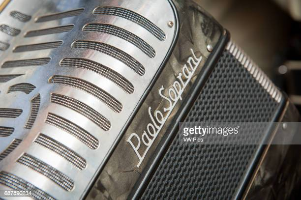 Closeup of accordion in Baltimore MD