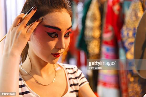 Close-up of actress