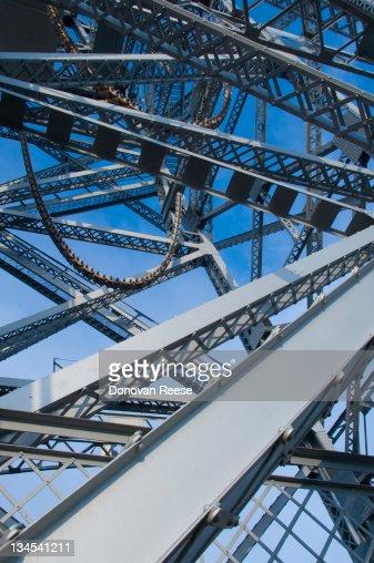 Close-Up of Aerial Bridge Mechanism : Stock Photo