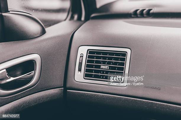 Close-Up Of Air Conditioner In Car