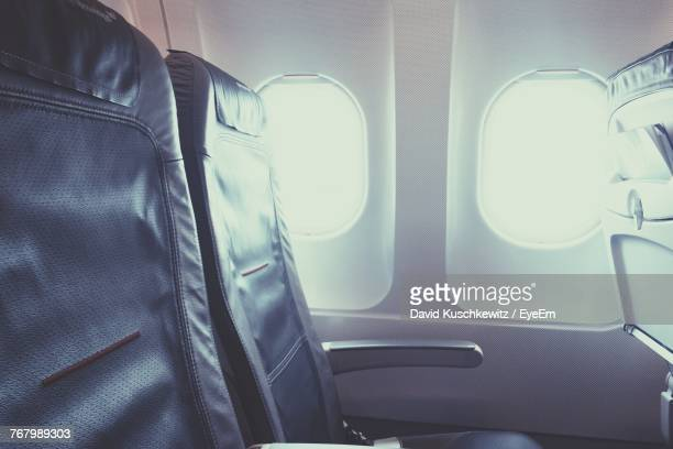Close-Up Of Airplane Seat