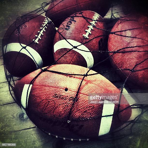 Close-Up Of America Footballs