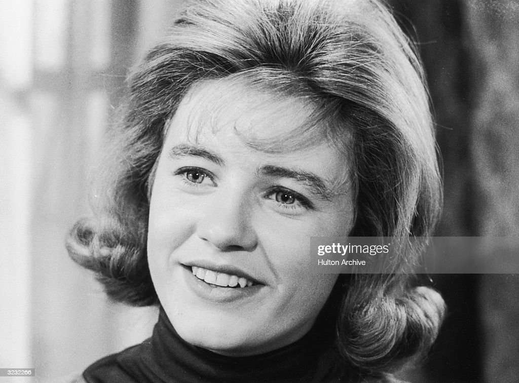 Closeup of American actor <a gi-track='captionPersonalityLinkClicked' href=/galleries/search?phrase=Patty+Duke&family=editorial&specificpeople=93921 ng-click='$event.stopPropagation()'>Patty Duke</a> smiling in a still from the television series 'The <a gi-track='captionPersonalityLinkClicked' href=/galleries/search?phrase=Patty+Duke&family=editorial&specificpeople=93921 ng-click='$event.stopPropagation()'>Patty Duke</a> Show'.