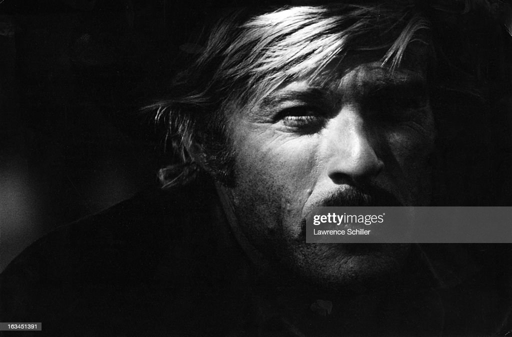 Closeup of American actor Robert Redford in the film 'Butch Cassidy and the Sundance Kid' Durango Mexico 1968