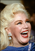 Closeup of American actress dancer and singer Ginger Rogers as she laughs during an unidentified event at the Kennedy Center Washington DC December...