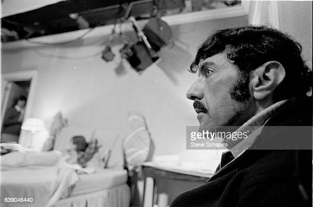 Closeup of American author and screenwriter William Peter Blatty on the set of the film 'The Exorcist' New York New York 1973