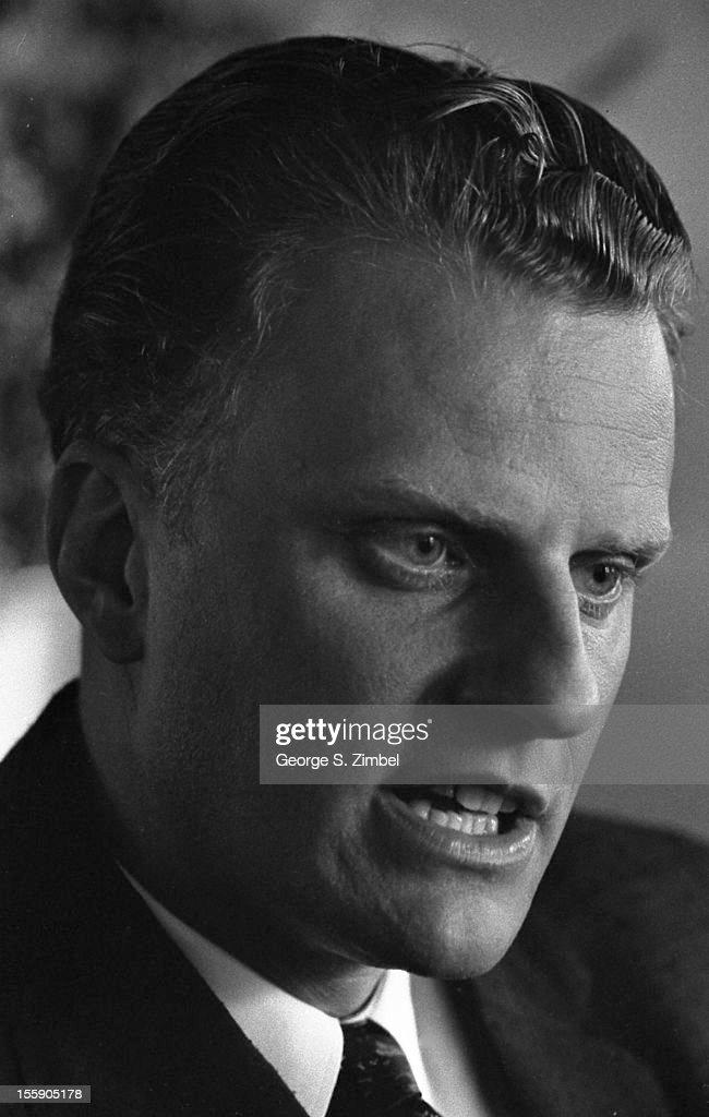Closeup of American evangelical Baptist minister Billy Graham New York New York 1953