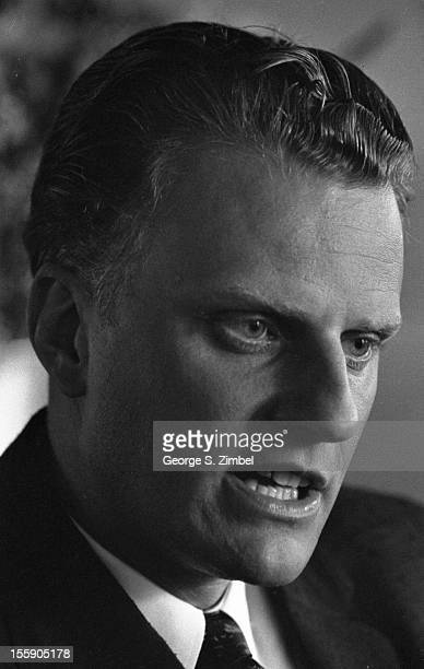 Closeup of American evangelical Baptist minister Billy Graham New York New York 1953